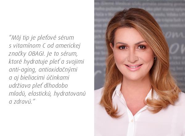 MUDr. Adriana Tomekova Tomar sérum s vitamínom C